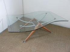 Stallion Design - flag-shaped coffee table, Sfarzo collection; 'Omega' model