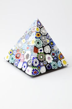 Pagan (Pagan Murrine glassworks) - pyramid paperweight