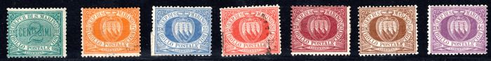 San Marino 1877 till 1899 - Collection lot of first series/sets -