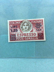 Somalia 1927 Express 1.25 L on 30 b. Imperforated