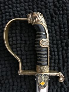 German Officers Sabre with name on blade