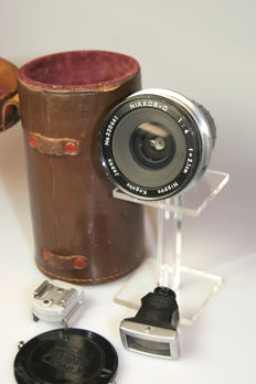 Nikkor-O 1:4 f=2.1cm + Finder RF + Shoe + bag