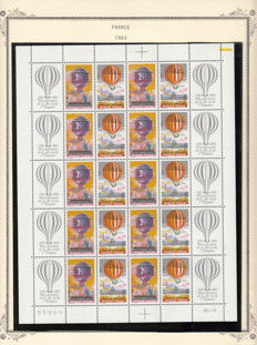 France, 1982/1999 – Lot of stamps, sheets and booklets