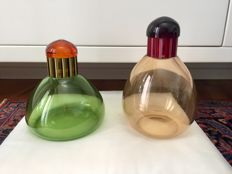 Marcello Furlan - Pair of coloured bottles with stopper