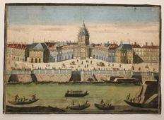 Unknown city view, detailed optics print, second half 18th century