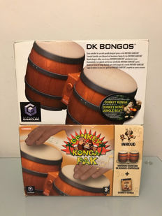 Nintendo Gamecube Donkey Konga pack and boxed extra bongo's