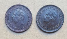 Portuguese India – Par - Eighth of a Tanga 1881 & 1884 – D. Luís I – Superior Condition