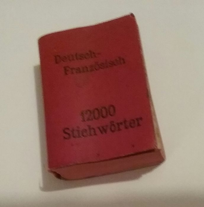 German worterbuch miniature - Deutsch Franzosisch di prof. F. J. Wershoven - curio - Plus an incomplete miniature dictionary in Polish German