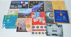 Europe – 14 coin and year collections 1998/1999 (various)