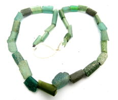 Ancient glass beaded necklace - 330mm