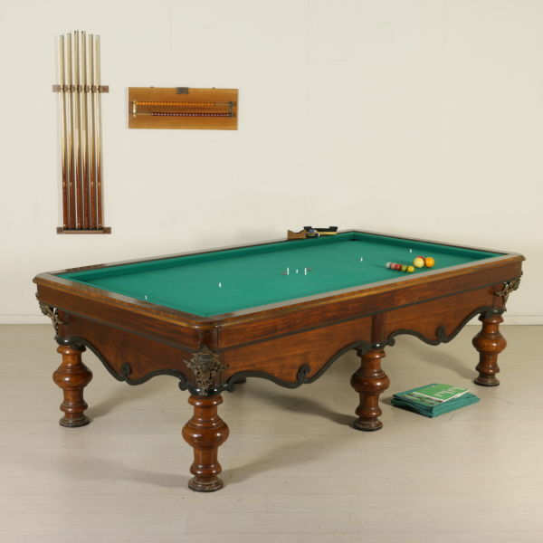 Vintage Billiard Table Made In Italy, Second Half Of 1800, Pistoia (Italy)
