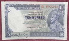 India - 10 rupees 1935 - Pick 16b