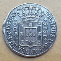 Portugal – Cruzado Novo 1816 – 4 Point Diadem – D. João Príncipe Regente . Better than average