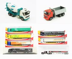 Herpa / Joal / Matchbox - Scale 1/100, 1/87 & 1/50 - Collection of 9 trucks