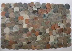 Spain – Lot of 180 coins from Spanish colonies from the House of Austria, 1500-1700 AD – Europe