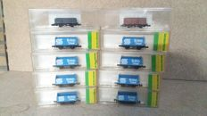 Minitrix/Graham Farish N - 13833 - 8x British steel wagons & 2x open wagons van de BR