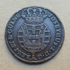 Portugal/Angola – 1 Macuta 1763 – D. José I . Better than average