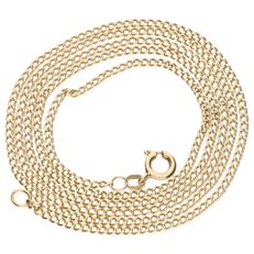 14 kt yellow gold curb link necklace - Length 59.9 cm