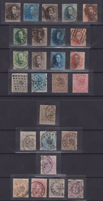 Belgium, selection from 1849, Leopold I-II, Brussels, Caritas, King Albert, Red Cross, Telegraph, Airmail, Telephone