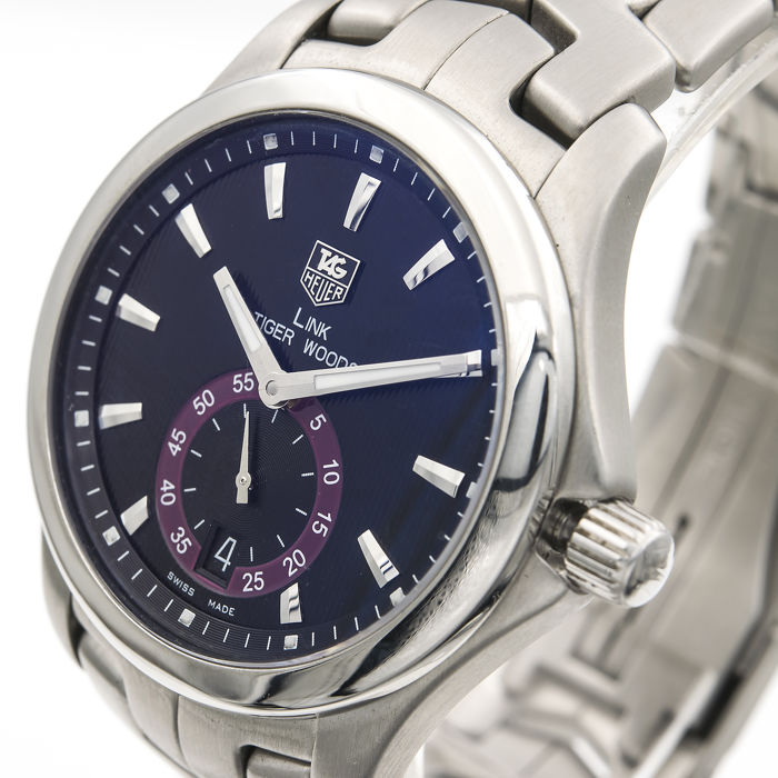 Tag heuer link tiger woods men's watch limited edition stainless.