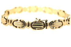 Bracelet made from 18 kt yellow gold - 19.5 cm - 17.4 g