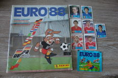 Panini - Euro 1988 Germany - Empty album + 7 stickers + sticker pack.