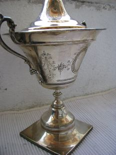 Centrepiece - cup - silver plated - ca.1920