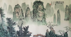 Hand-painted water-ink painting《白雪石-雨后漓江》, made after Bai Xue Shi - China - late 20th century