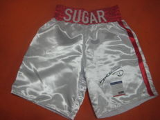 Boxing shorts everlast signed SUGAR RAY LEONARD with PSA(DNA certificate