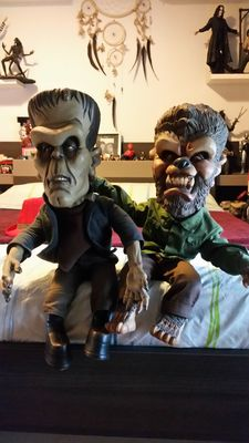 Sideshow Frankenstein and Werewolf