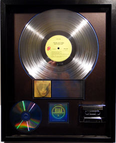 The Rolling Stones - Goats Head Soup - US RIAA Platinum Music Award goldene Schallplatte - original Sales Music Record Award ( Golden Record )