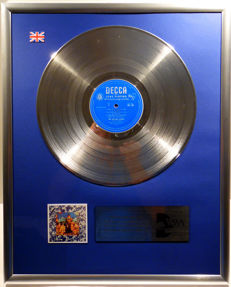 "The Rolling Stones - Their Satanic Majesties Request - 12"" UK DECCA platinum plated record by WWA Awards"