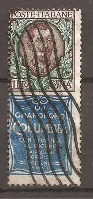 Kingdom of Italy -1924 - stamps with appendix advertising - Sassone 19.