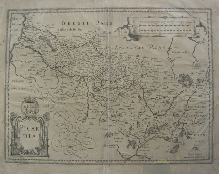 France, Picardië, Artois; J. Janssonius/G. Mercator - Two copper engravings - Ca. 1660/Ca. 1630