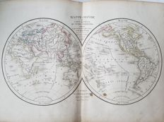 World, Africa, North and South America, Asia, Europe, Russia; A. Delamarche - 8 maps - 1831/1832