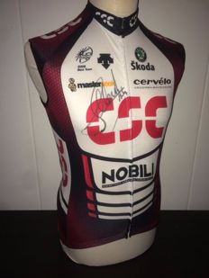 Andy Schleck, Team CSC Original signed and worn cycling shirt.