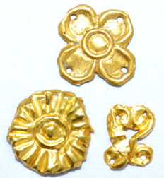 Ancient Roman Gold Mounts - Sun, Floral and Snakes - 14-19 mm