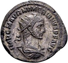 Roman Empire – AE silver-plated antoninianus of emperor Numerian, AD 283-284, minted in Antioch