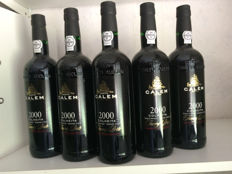 2000 Colheita Port Calem - bottled in 2014 - 5 bottles