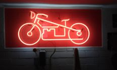 Unknown designer - neon light, motorcycle