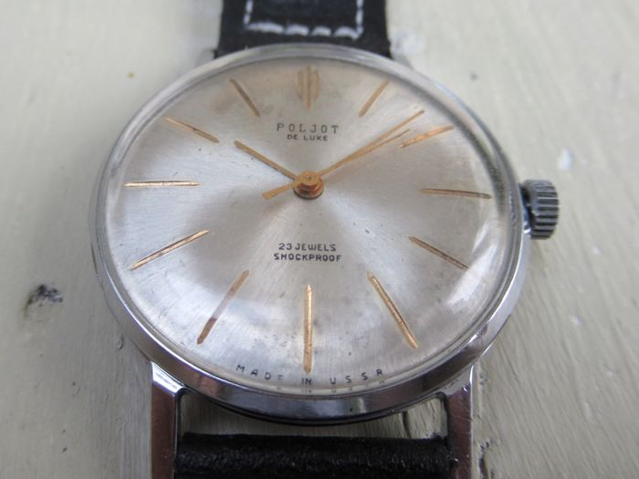 Poljot De Luxe CCCP USSR dress watch 1970s