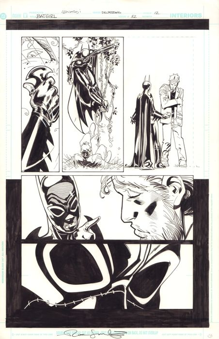Original Art Page By Rick Leonardi - DC Comics - Batgirl #52 - Page 12 - Signed - (2004)