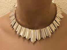 970 Silver necklace – inspirer Antonio Pineda – Taxco-Mexico – 1950s – 185.5 grams