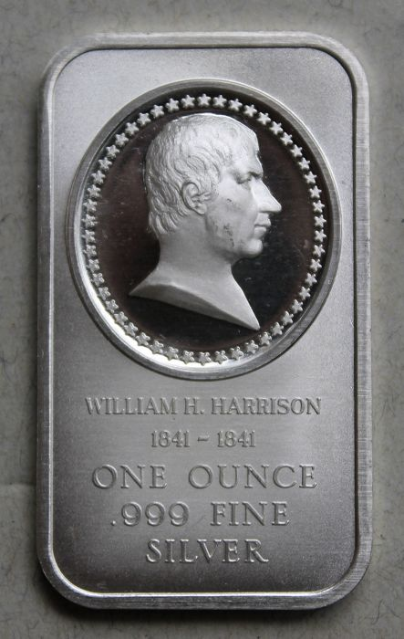 "Bullion ""William H. Harrison"" - US President - fine silver"
