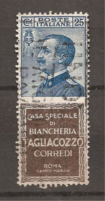 Kingdom of Italy 1924 - stamps with appendix advertising - Sassone 8.