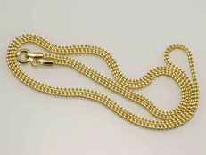 18k Gold. Chain. Length 55 cm. No reserve price.