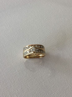 14K yellow gold dia setting 0.95