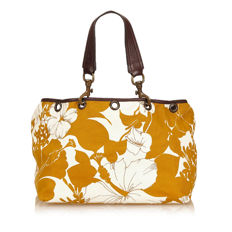 Miu Miu - Floral Canvas Handbag