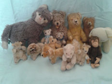 Antique teddy bears and other small animals by Steiff, Hermann, etc. Germany