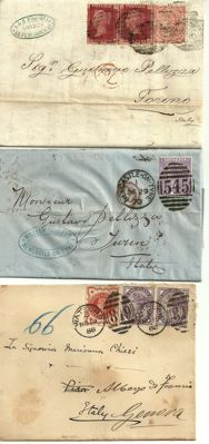 Great Britain 1850/1880 – 2 letters and 1 envelope